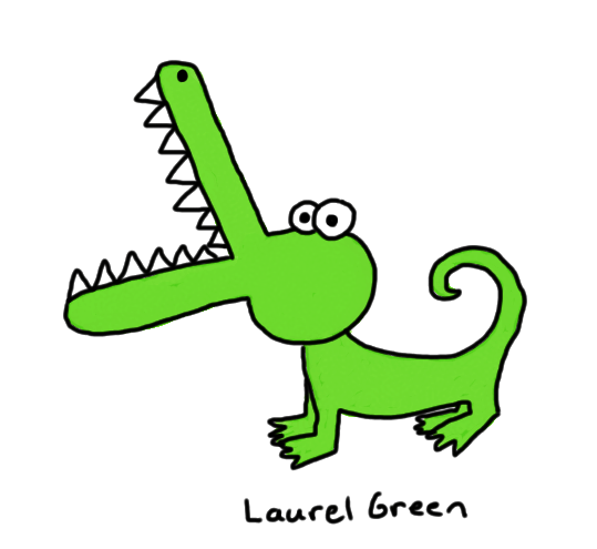 a badly-drawn crocodile