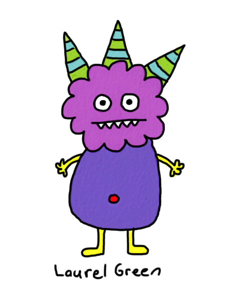 a drawing of a monster with spikes sticking out of its head