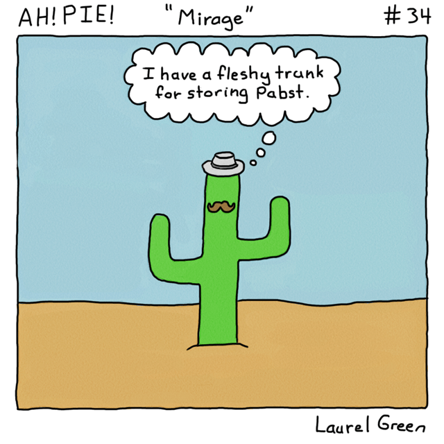 a comic about a hipster cactus