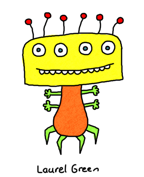 a drawing of a weird bug creature