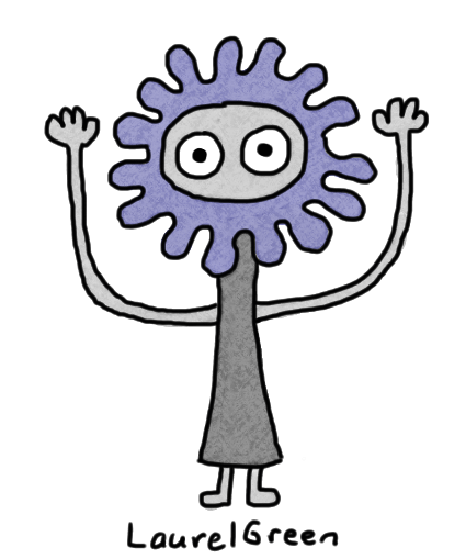 a drawing of a creature with long arms