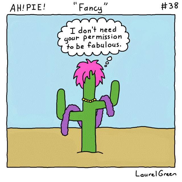 a comic about a fancy cactus