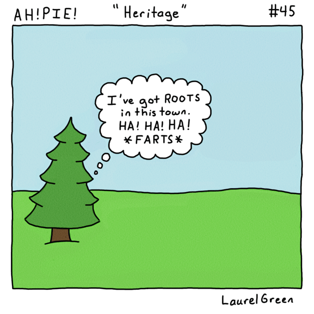 a comic about a horrible tree
