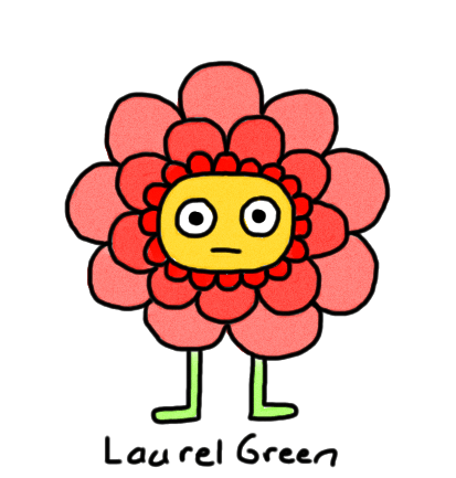 a drawing of a little flower dude