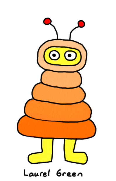 a drawing of a snuggly bug