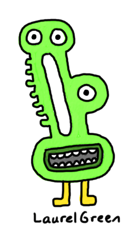 a drawing of a mutant with a hole in its face
