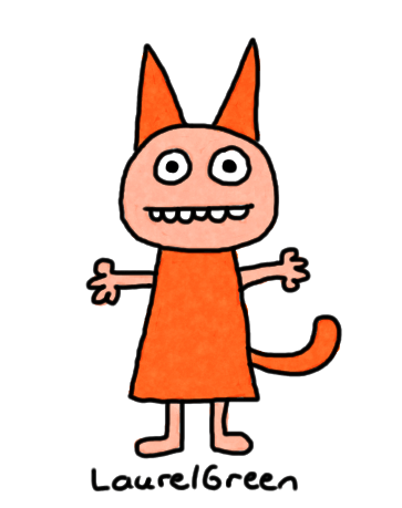 a drawing of a person dressed up like a cat