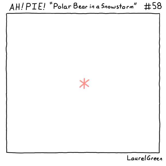 a comic about a polar bear's behind