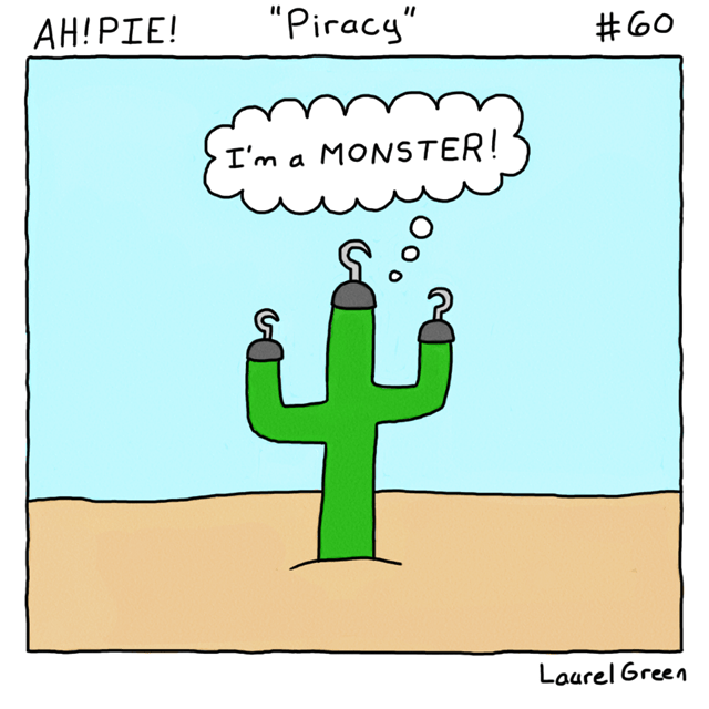 a comic about a pirate cactus