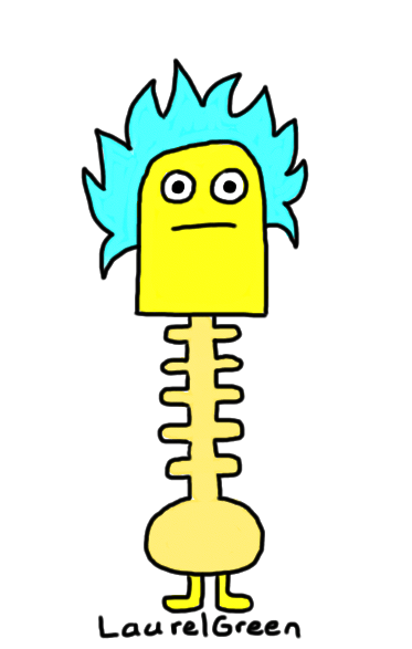 a drawing of a creature with a strange neck