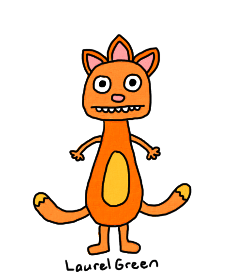 a drawing of a mutant cat