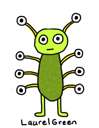 a drawing of a bug with lots of eyes sticking out of it