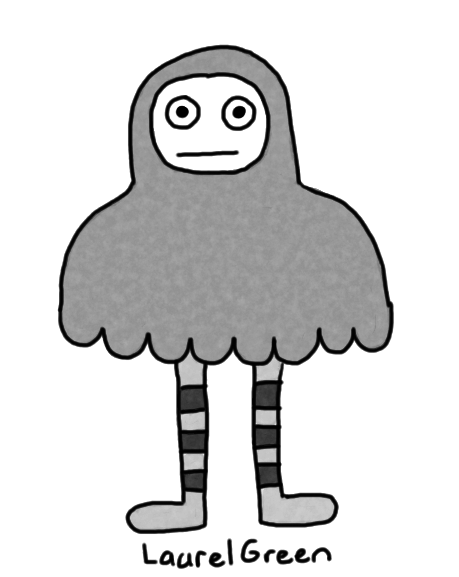 a drawing of a grey person