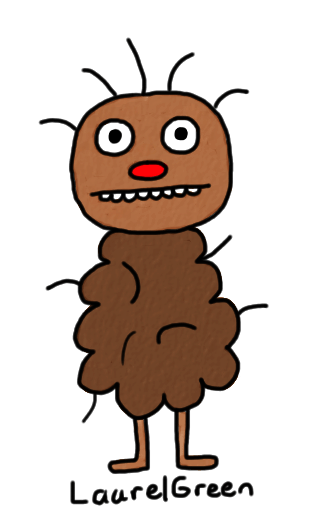 a drawing of a poop bear