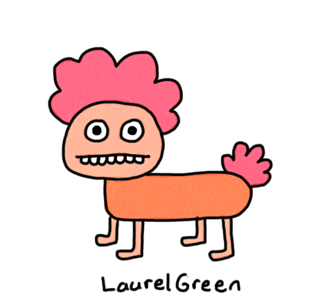 a drawing of a quadrupedal animal man thing