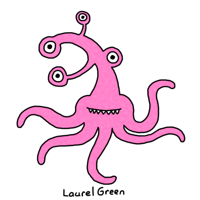 a drawing of a weird octopus thing