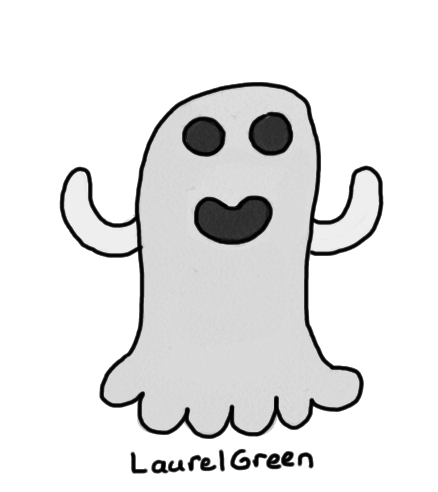 a badly-drawn ghost