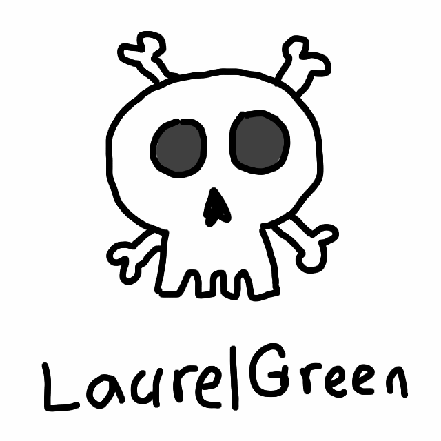 A drawing of a skull and crossbones