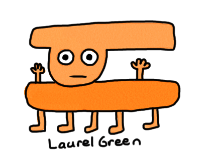 a drawing of an orange thing