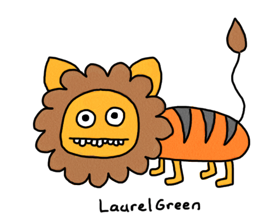 a drawing of liger