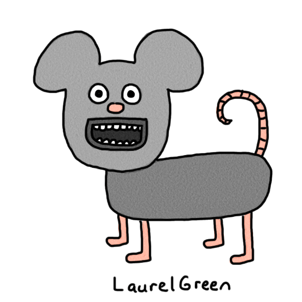 a badly-drawn mouse
