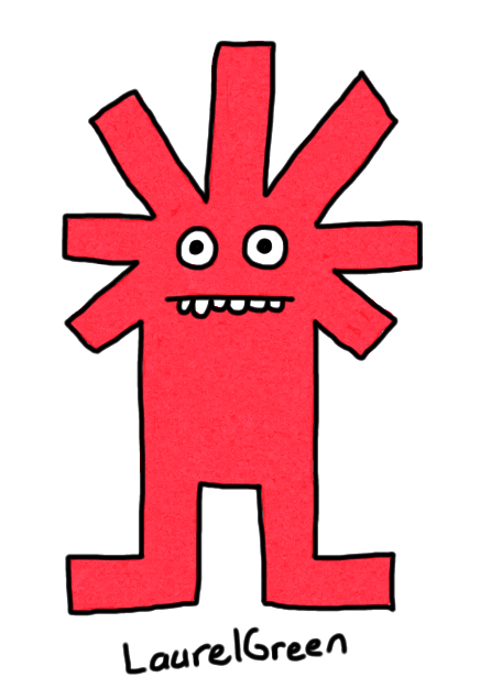 a drawing of a creature with an asterisk for a head
