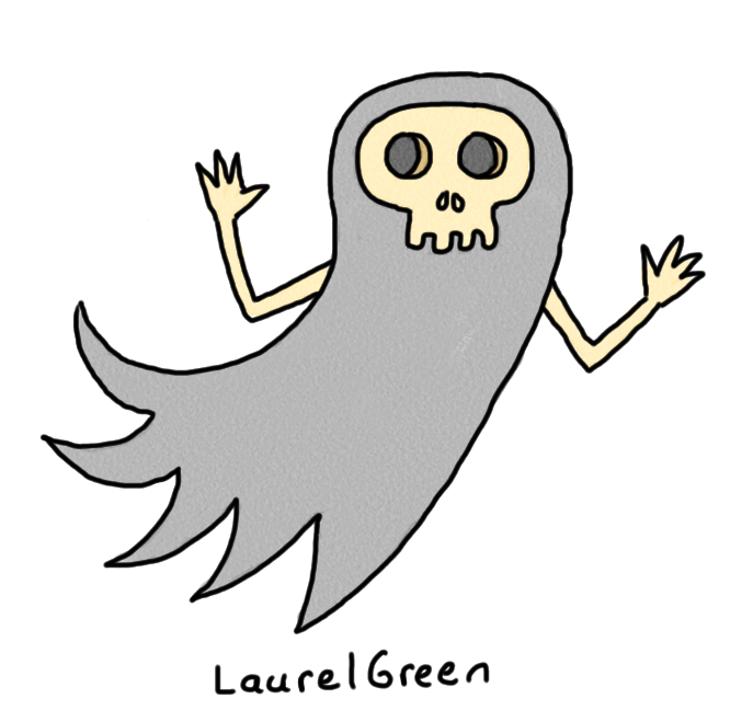 a drawing of a ghoul