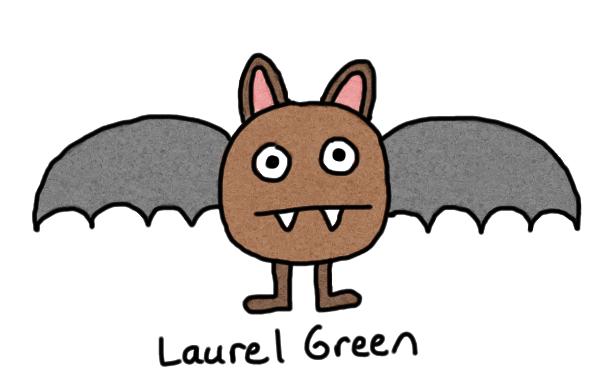 a drawing of a bat