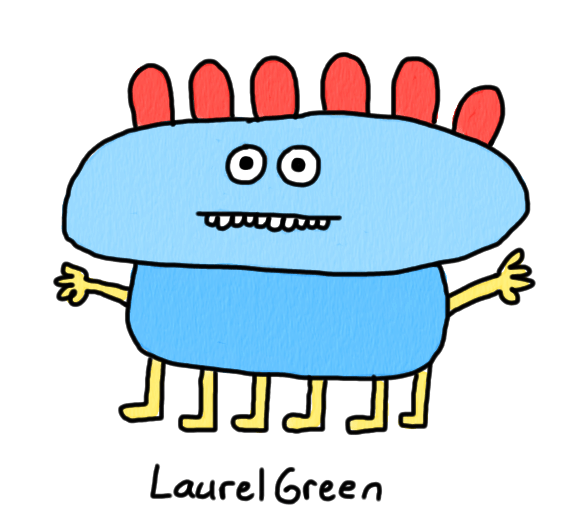 a drawing of a six-legged creature with lumps on its head