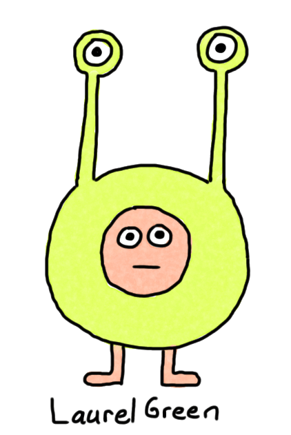 a drawing of a person wearing a blorb suit