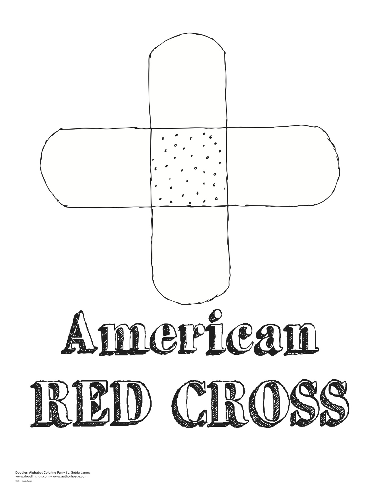 Red Cross Coloring Sheet