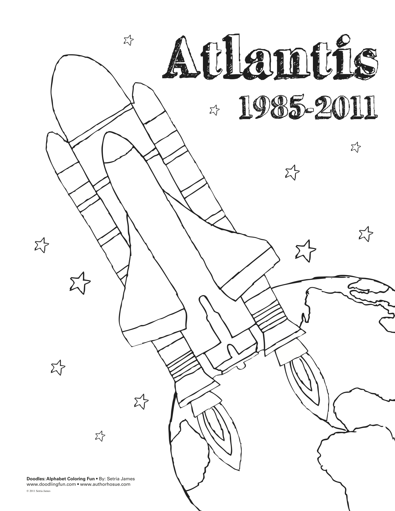 Space Shuttle Coloring