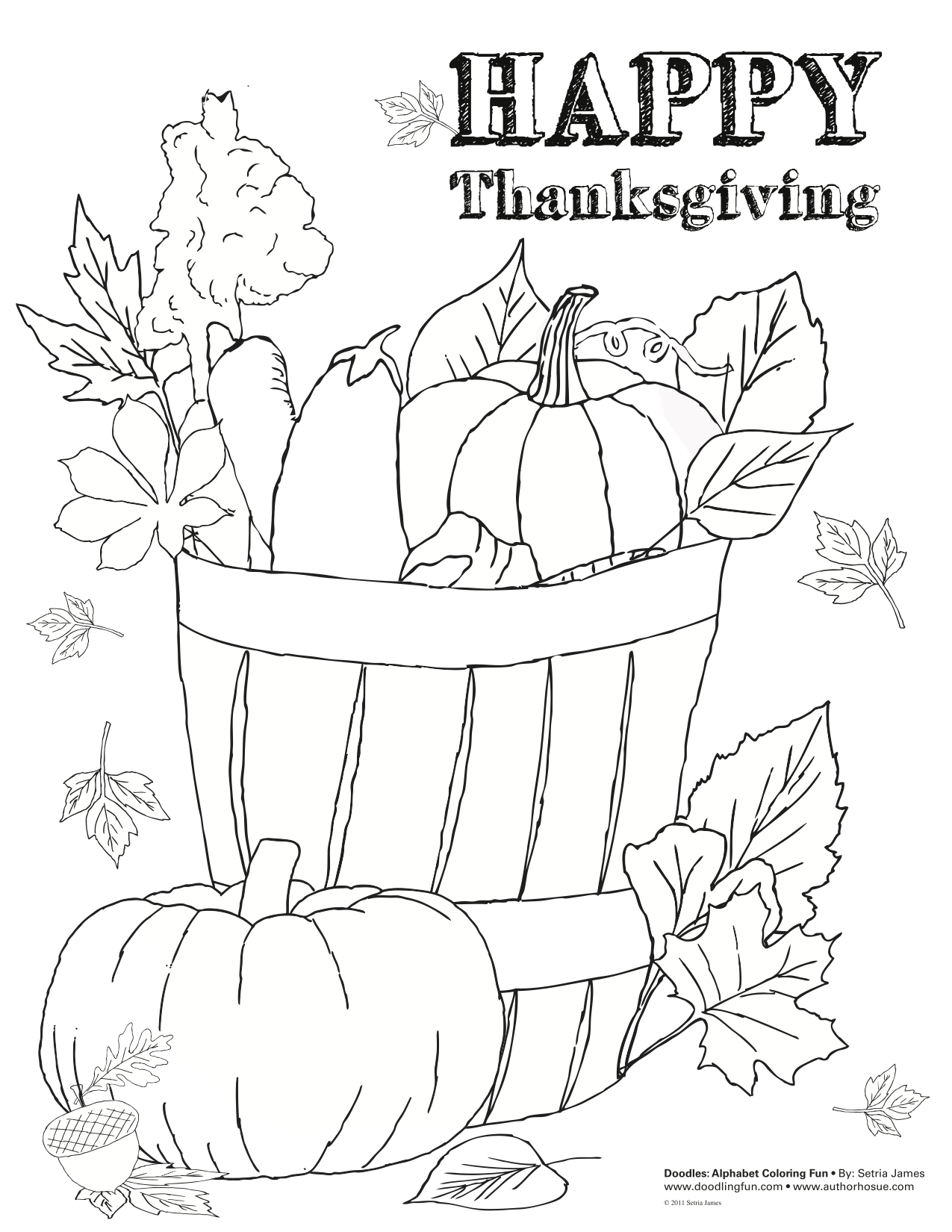 Thanksgiving Coloring And Activity Sheets
