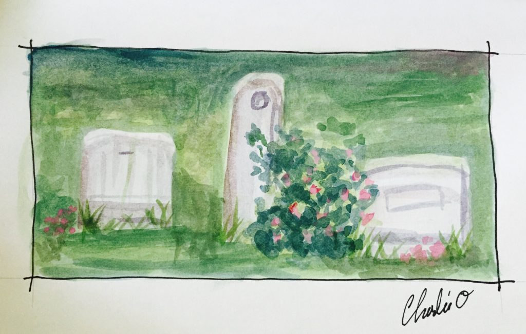 Union Hill Cemetery Plein Air Watercolor Painting Doodlewash