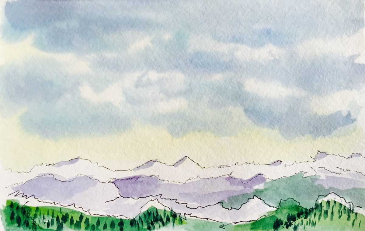Watercolor Sketching Example - Landscape