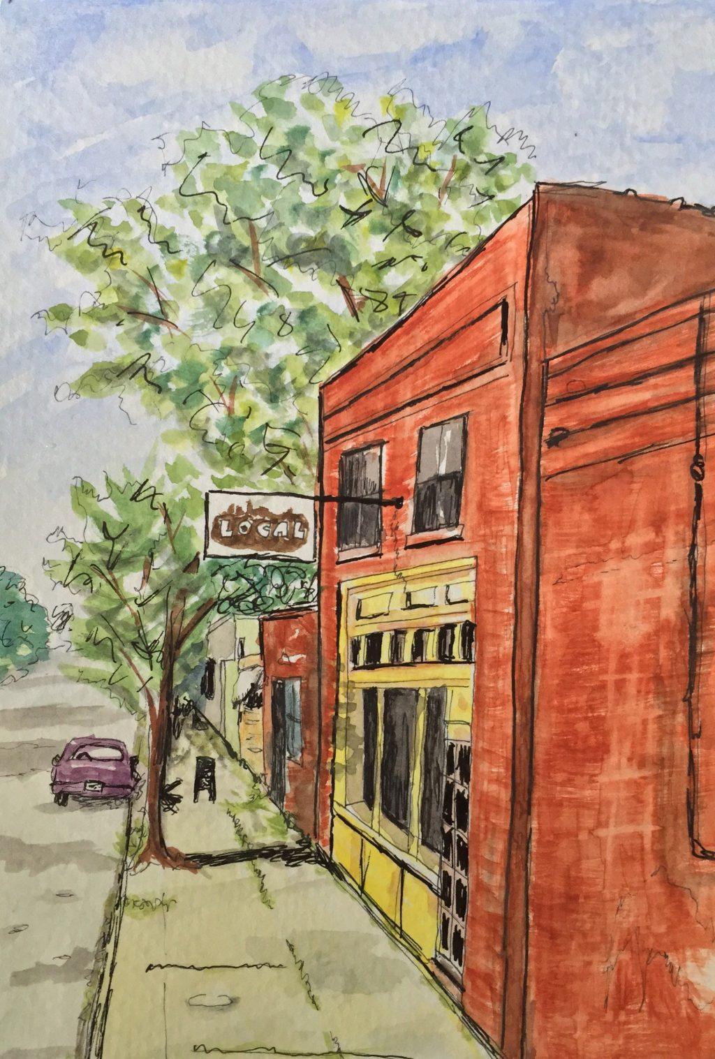 Adding Color to Urban Sketches Doodlewash