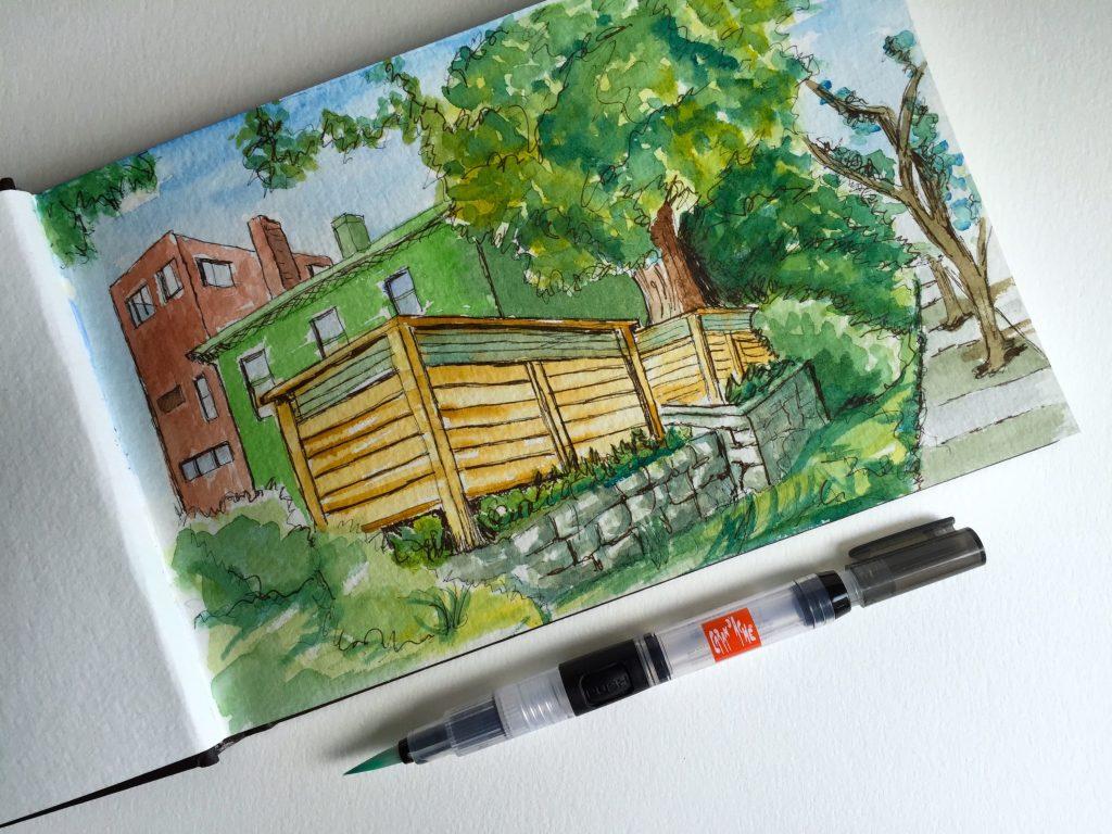 Water Brush Urban Sketching Doodlewash