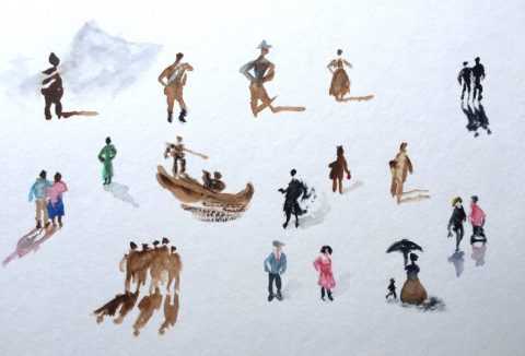 Figures Watercolor Sketching