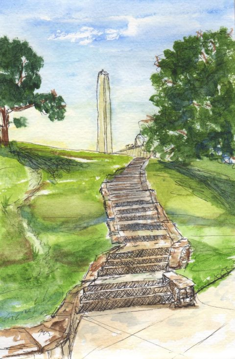 Liberty Memorial Kansas City Urban Sketching