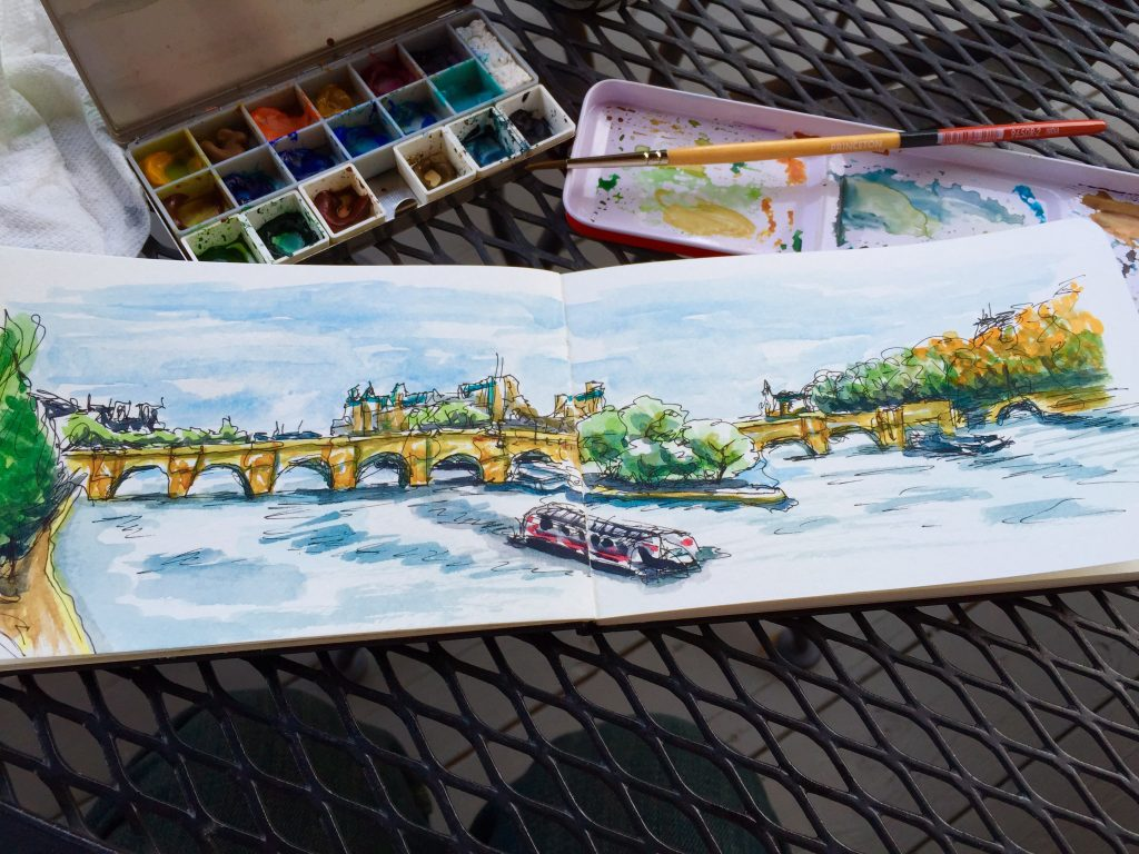 Île Saint-Louis Sketching