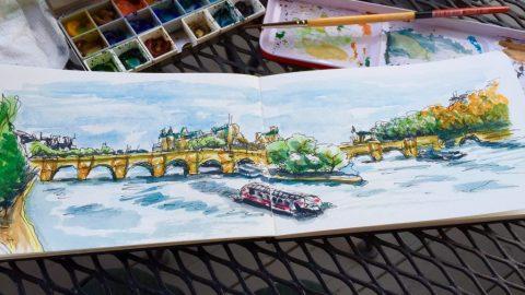 Île Saint-Louis Sketching
