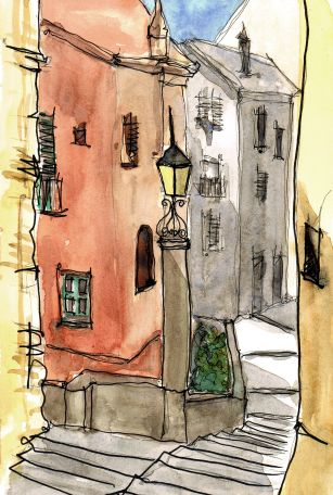 Street Scene by Nicola Schofield