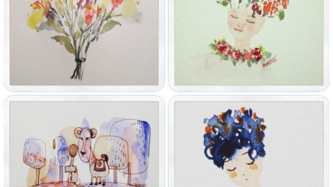 Watercolor Paintings by April Yip
