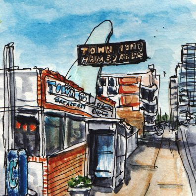Town Topic Burgers Urban Sketching