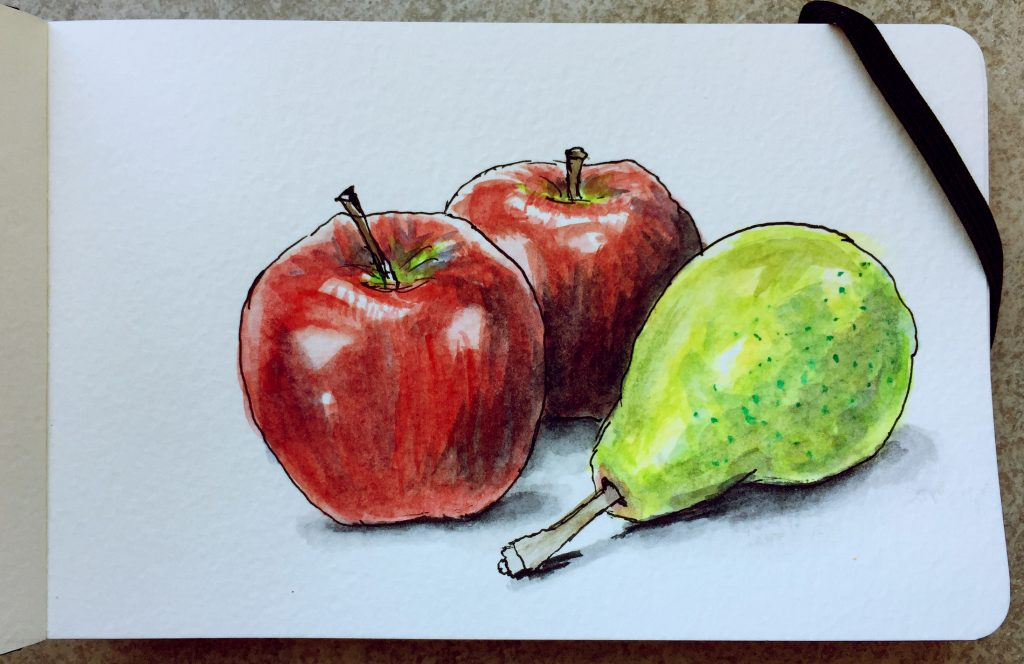 Apples & Pear by Charlie O'Shields