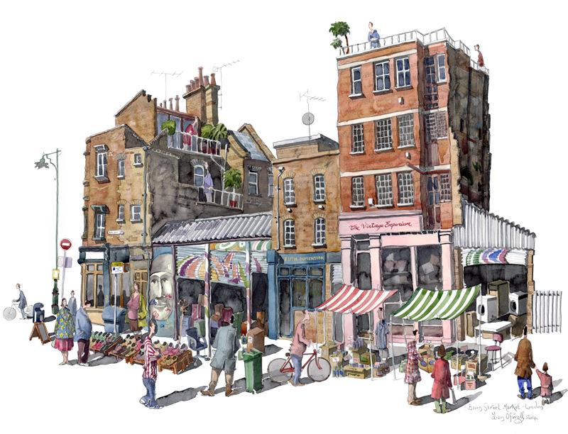Bacon Street Market by Liam O'Farrell - Doodlewash