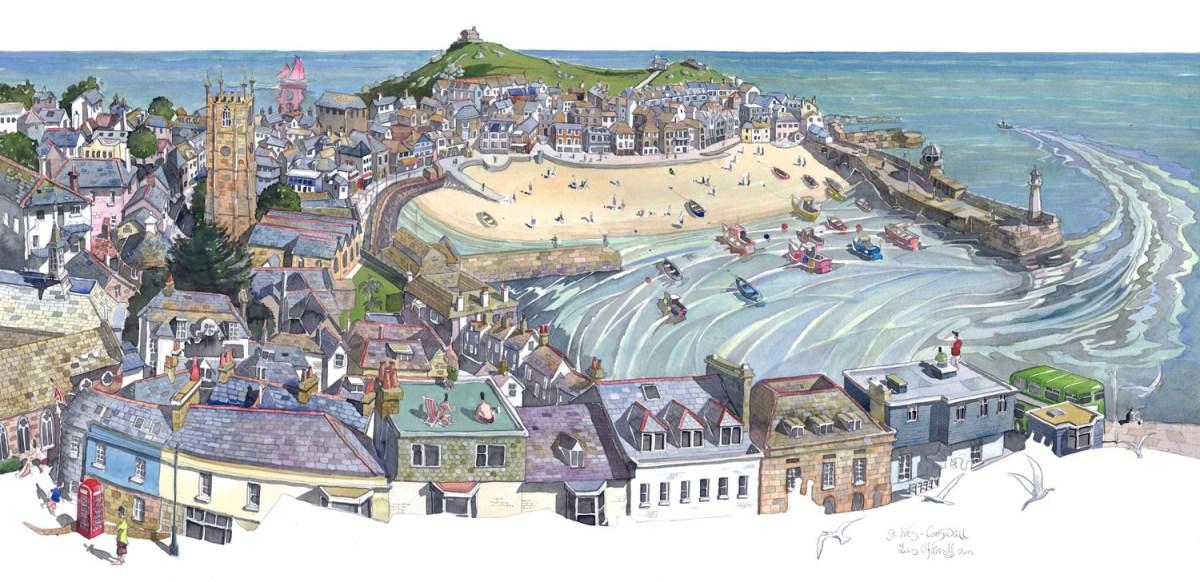 St Ives, Cornwall, England by Liam O'Farrell - Doodlewash