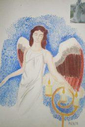 Angel Doodlewash by Silver Marie Brodit