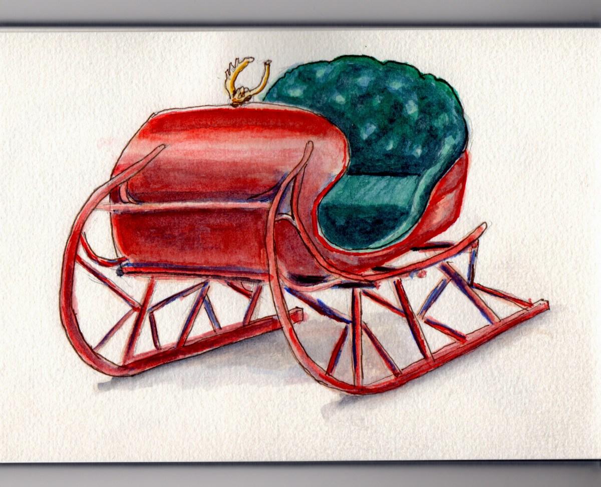 Santa Sleigh Doodlewash