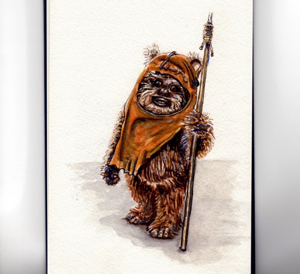Wicket the Ewok - Star Wars - Return of the Jedi - Doodlewash